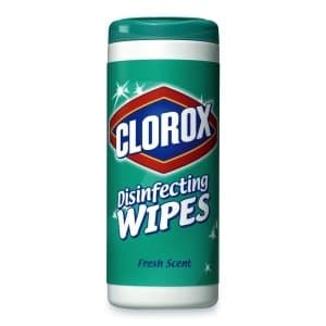 Clorox Disinfecting Wipes, Fresh Scent, White, 75/Canister