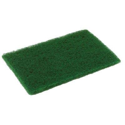 Continental Green, 10 Pack Medium Duty Scouring Pad- 6 x 9