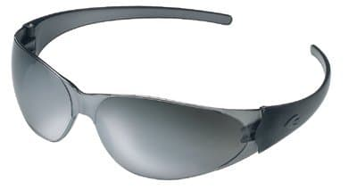 Black Frame Silver-Mirrored Lens Checkmate Safety Glasses