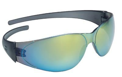 Black Frame Rainbow Mirror Lens Checkmate Safety Glasses