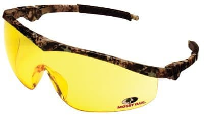 Mossy Oak Safety Glasses Camo / Amber Lens