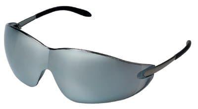 Chrome Polycarbonate Silver Mirror Blackjack Protective Eyewear