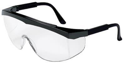 Crews Black Clear Lens Polycarbonate Stratos Spectacles