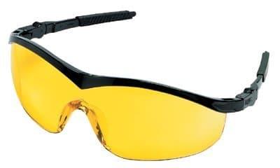 Black Frame Amber Lens Storm Protective Eyewear