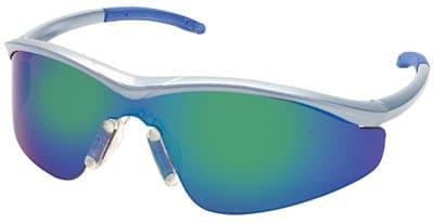 Steel Frame Emerald Mirror Lens Triwear Protective Eyewear