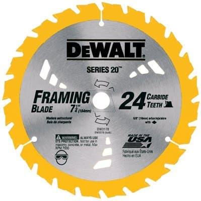 """7-1/4"""" 24 Teeth Combination Circular Saw Blade"""