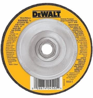 """4-1/2"""" Type 27 General Purpose Metal Grinding Wheel"""