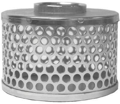 """3"""" Steel Threaded Round Hole Strainer"""