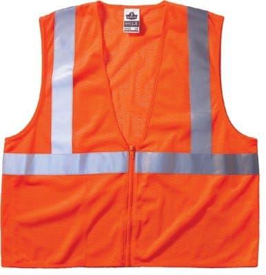 X-Large Orange Glo Wear Class 2 Economy Vest
