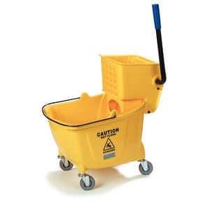 Yellow, Side-Press Bucket/Wringer Combo-8.75 Gallon