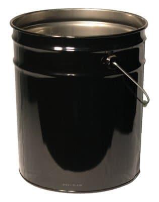 5 Gallon 28x26 Steel Black Coated Open Head Pail