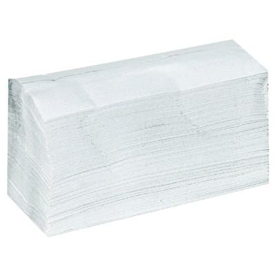 General Supply White, 1-Ply C-Fold Towels-12.25 x 10