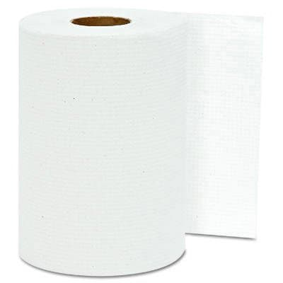 White, Hardwound Roll Towels-8-in x 300-ft.