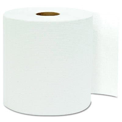General Supply White, Hardwound Roll Towels- 8-in x 800-ft.