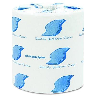 White, Standard 2-Ply Bathroom Tissue-4.5 x 3