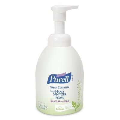 Green Certified, Instant Foam Hand Sanitizer- 535 mL Bottle