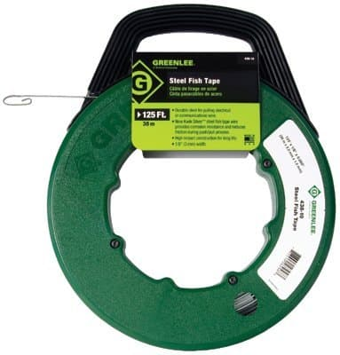"""Greenlee 50' x 1/8"""" Steel Fish Tape Assembly"""