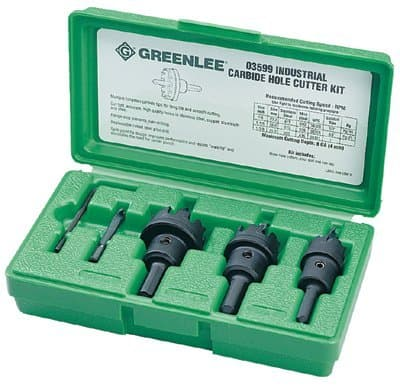 Greenlee Heavy Duty Carbide Tipped Hole Cutter Kit