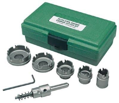 Greenlee 7 Piece Tungsten Carbide Hole Cutter Kit