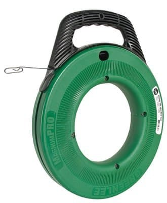 """Greenlee 125' x 1/8"""" Steel MagnumPro Fish Tape Assembly"""