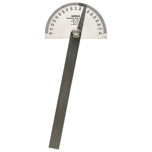 General Tools Stainless Steel Universal Square Head Protractor