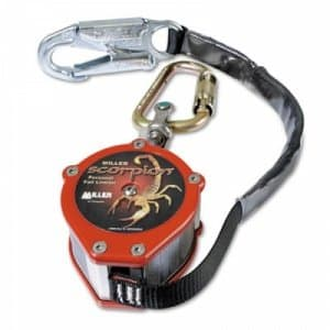 Honeywell Miller Scorpion Personal Fall Limiter w/ Carabiner & Swivel Shackle