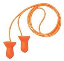 Quiet Orange Reusable Corded Safety Earplugs