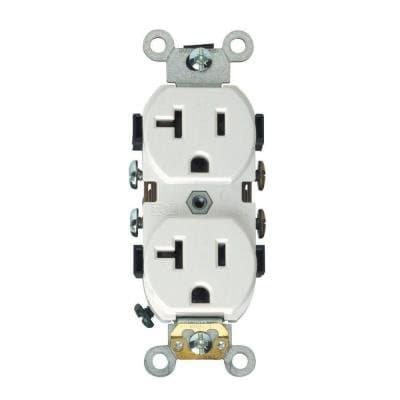 HomElectrical 20 Amp Weather Resistant Duplex Receptacle Outlet, White