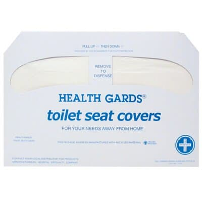 White, 250 Count Half -Fold Green Product Paper Health Gards Toilet Seat Covers