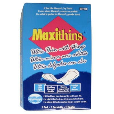 Maxithins Ultra-Thin Pads, Size 4