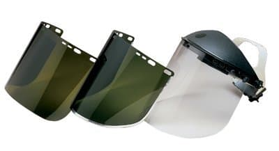 F50 Polycarbonate Special Face Shields Gold