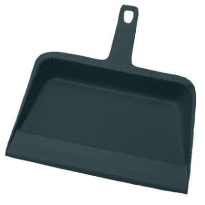 Black, Plastic Dustpan-12w x 12d x 4h