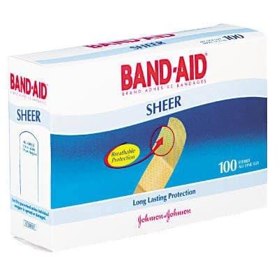 Johnson & Johnson Flexible Fabric, Adhesive Bandages-0.75 x 3