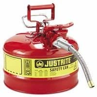 Red Type II Galvanized Steel AccuFlow Safety Cans