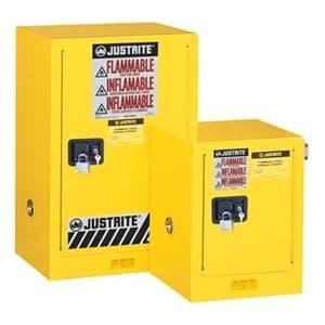 Justrite 4 Gallon Yellow Countertop Compact Cabinet