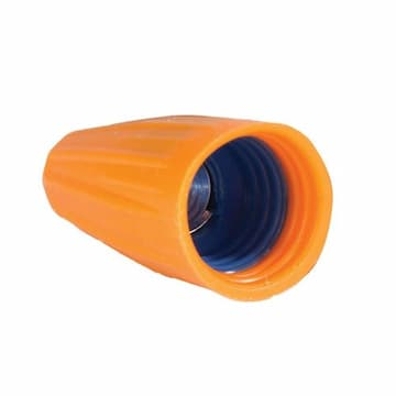 King Innovation Gorilla Nuts Orange/Blue Wire Connectors, Pack of 100