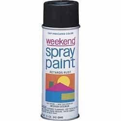 Krylon 11 oz Glossy Black Weekend Economy Spray Paint