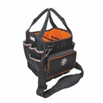 "Klein Tools Black Tradesman Pro 10"" Organizer Tote Bag, 40 Pockets"