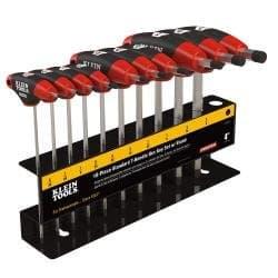 Klein Tools 10-Piece SAE Journeyman T-Handle Hex Keys Set with Stand