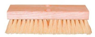 "10"" White Tampico Hardwood Deck Scrub Floor Brush"