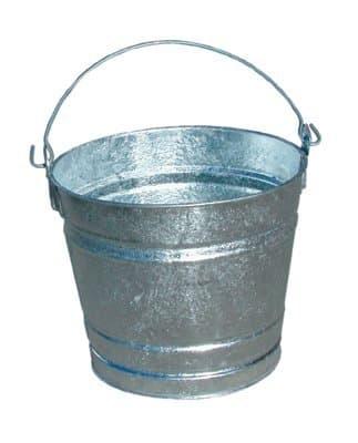 14qt Standard Duty Galvanized Steel Water Pail