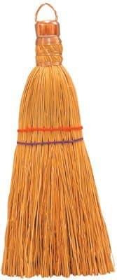 """11"""" Wire Wound Corn Bristles Whisk Broom"""