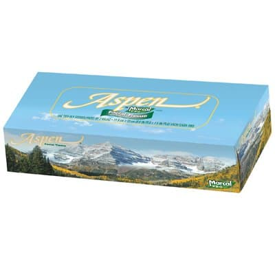 Marcal White, 144 Count 2-Ply Aspen 100% Recycled Facial Tissue