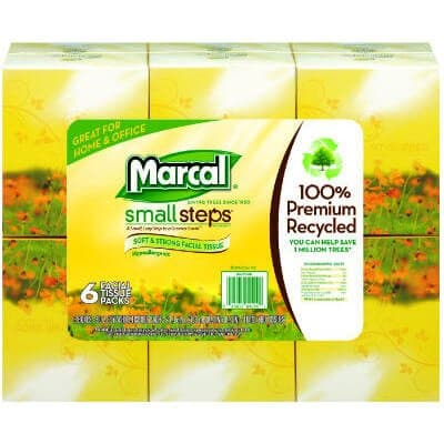 Marcal White, Recycled Facial Tissue in Fluff-Out Boutique Box