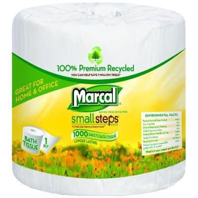 1-Ply 100% Premium Recycled Bath Tissue