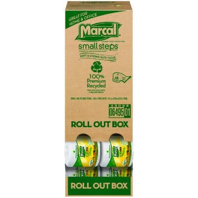 Recycled, Roll-Out Convenience Pack Bathroom Tissue