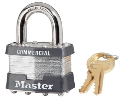 4 Pin Tumbler No. 1 Laminated Steel Safety Padlock