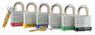 """Red Steel Body Safety Padlock w/2"""" Shackle"""