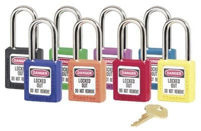 Red No. 410 & 411 Lightweight Xenoy Safety Lockout Padlock