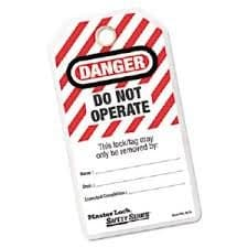 """3"""" """"Do Not Operate"""" I.D. Tags"""